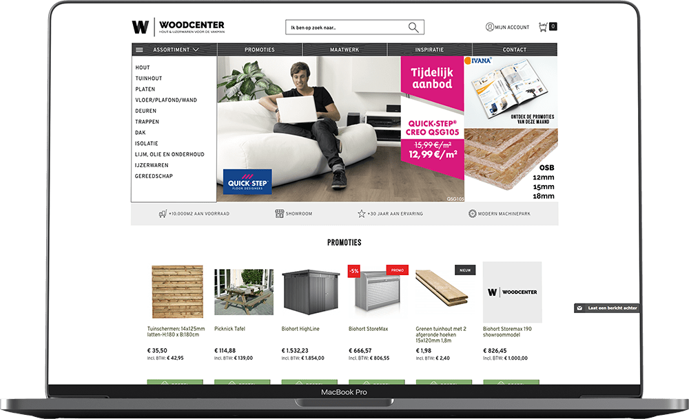 Woodcenter Magento webshop